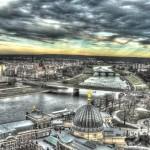 Dresden, HDR; Blick von der Frauenkirche